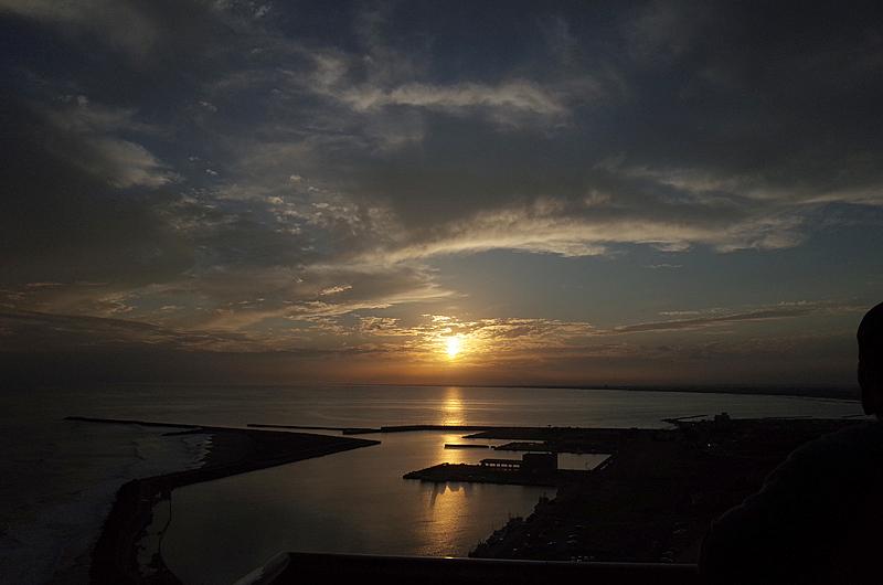 刑部岬からの夕日